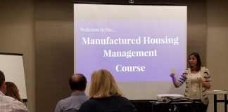 manufactured housing manager classes Katie Hauck Hauck Homes