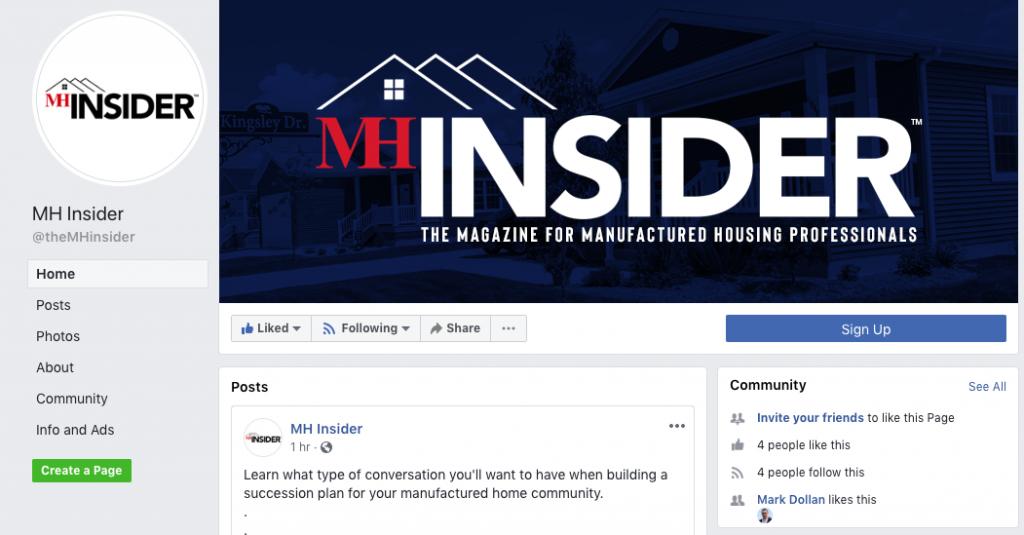 MHInsider social media channels Facebook