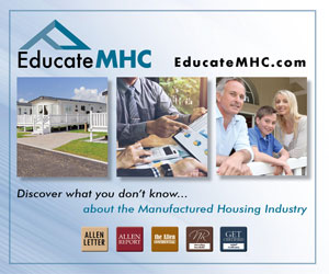 One Stop Resource for the MHC Industry. Statistics, Investment Advice, Management Tips and more.