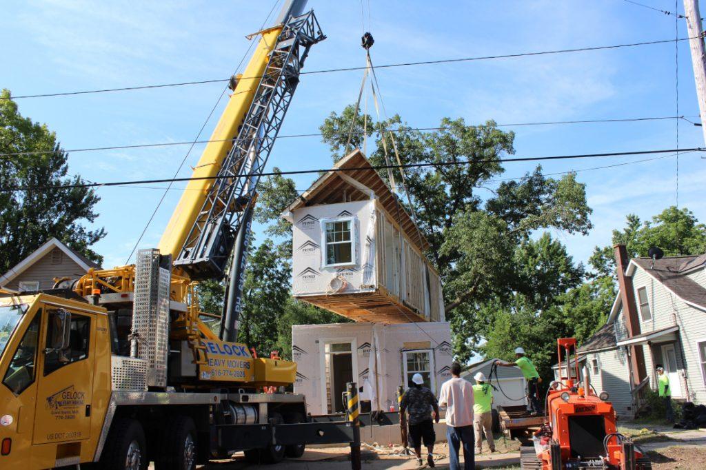 Champion Modular Homes Crane Set