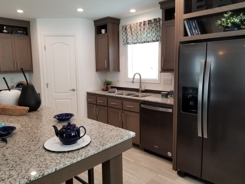 Interior of a new manufactured home manufactured housing 2019