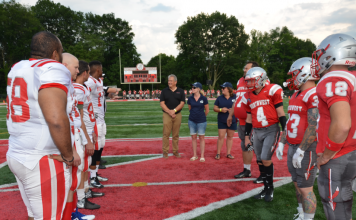 coin toss midfield UMH independence bowl Ohio