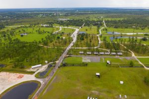 Aerial view new manufactured home communities