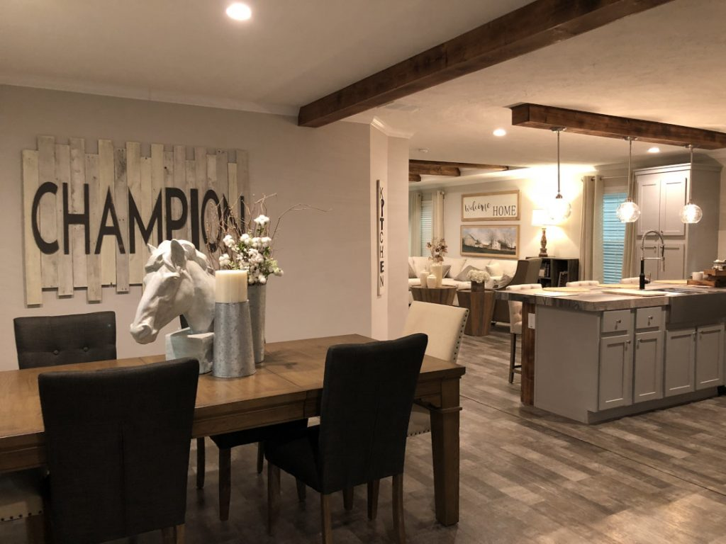 manufactured home interior living space Champion Homes 2020 Louisville Show