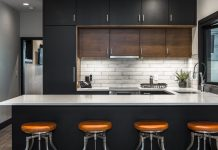 slate homes barstools kitchen modern
