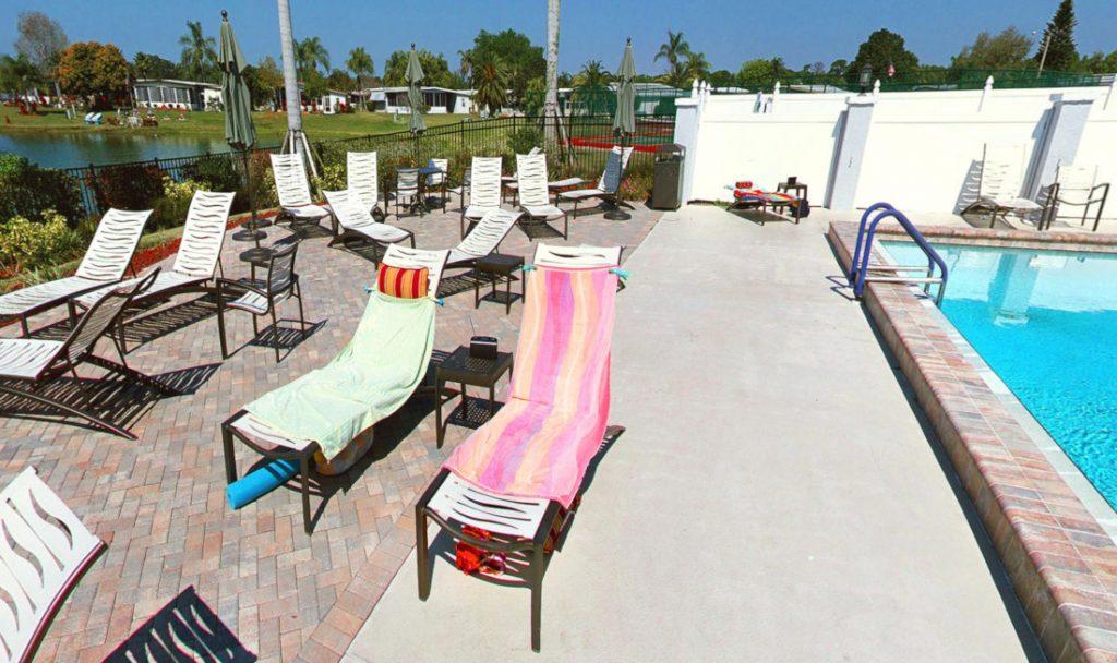 Pool area virtual tour best practices