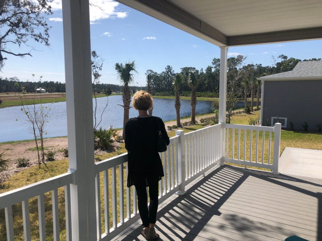 scenery for manufactured home virtual open house community pond