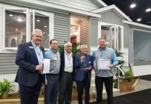 Commodore Homes receives an an award