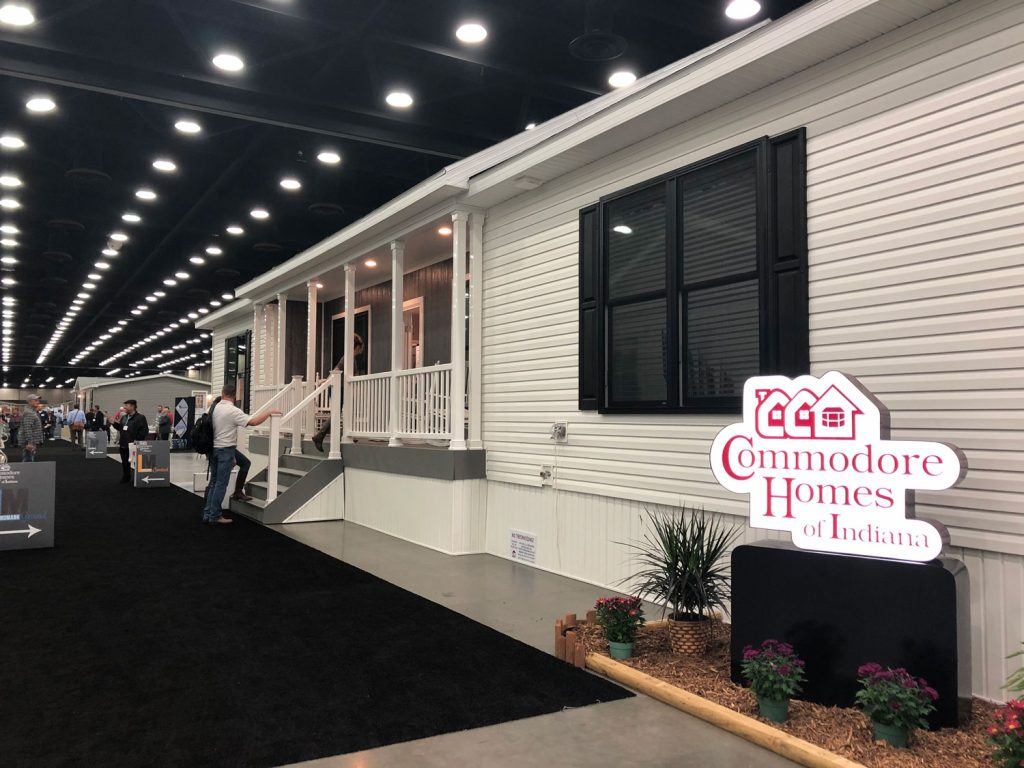 Commodore Homes new home at trade show