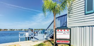 Four Star Homes waterfront sign
